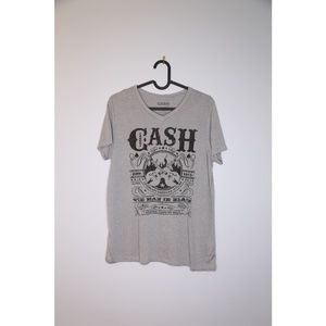 Johnny Cash Size M Gray Band Tee